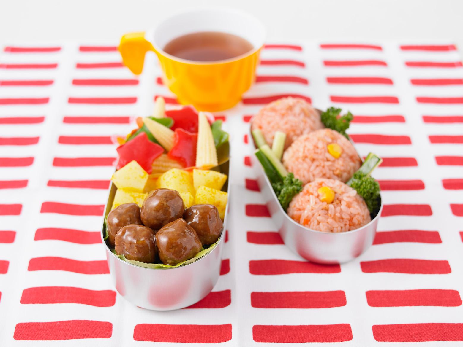 テリヤキミートボール野菜たくさんお弁当