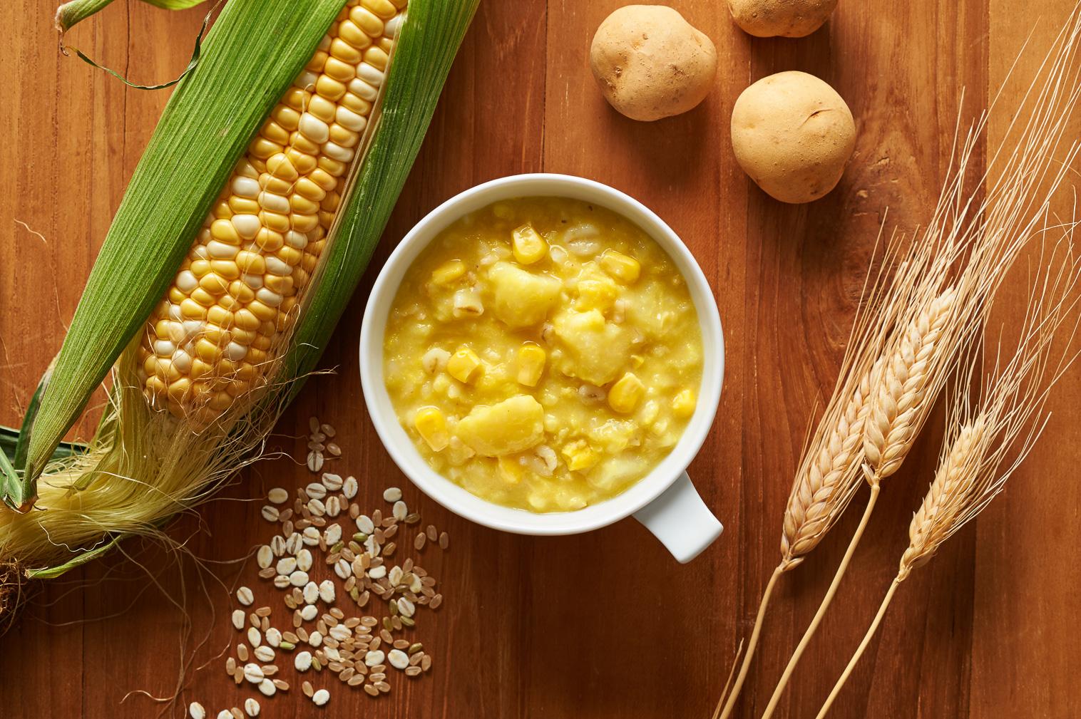 potayu corn ぽたーゆコーン 盛り付けイメージ
