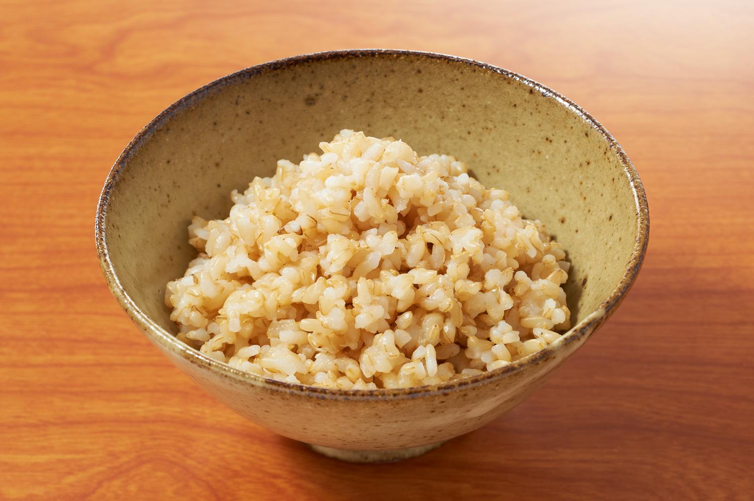 上総米の玄米ごはん