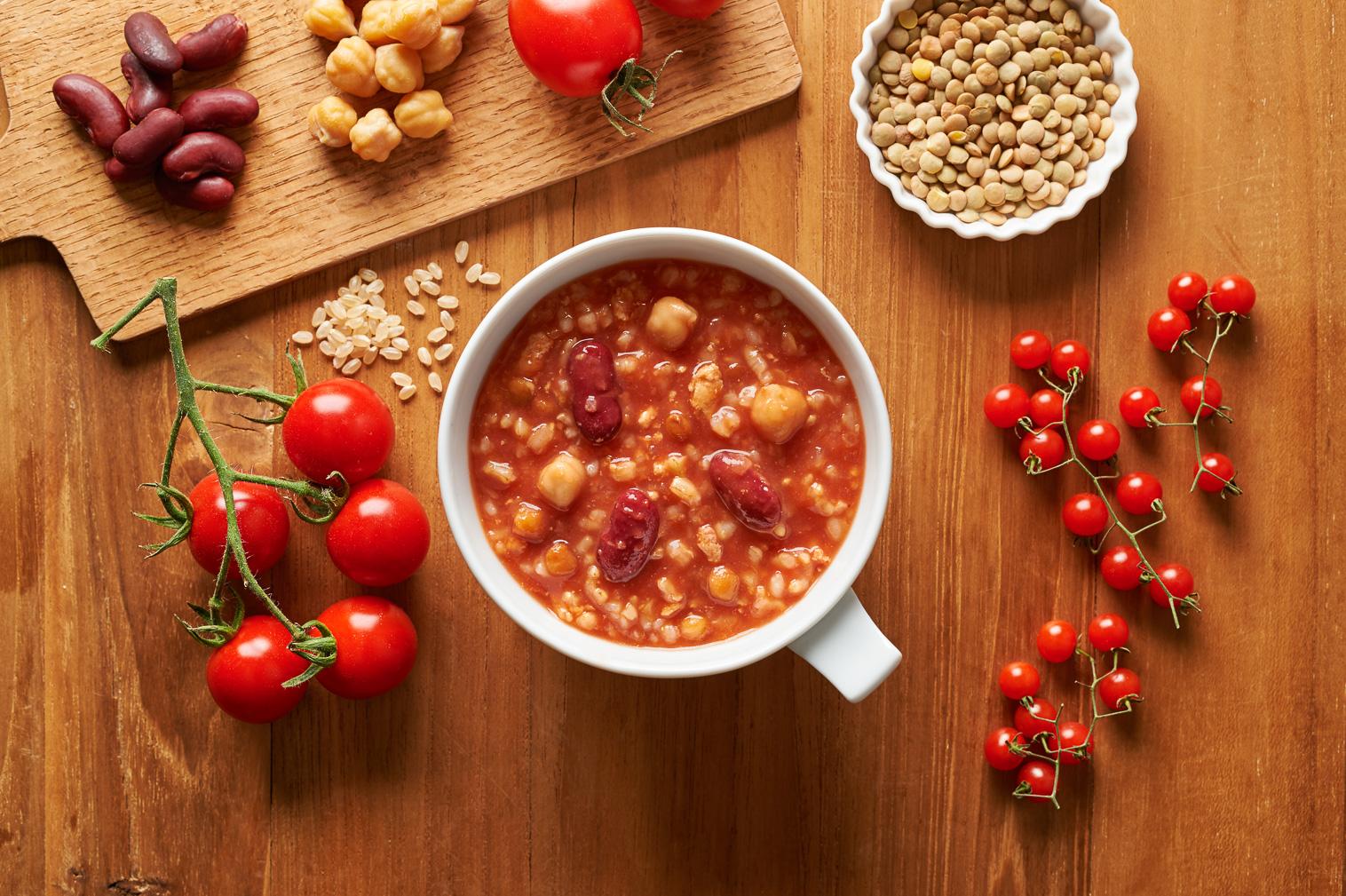 ぽたーゆトマト盛り付けイメージ