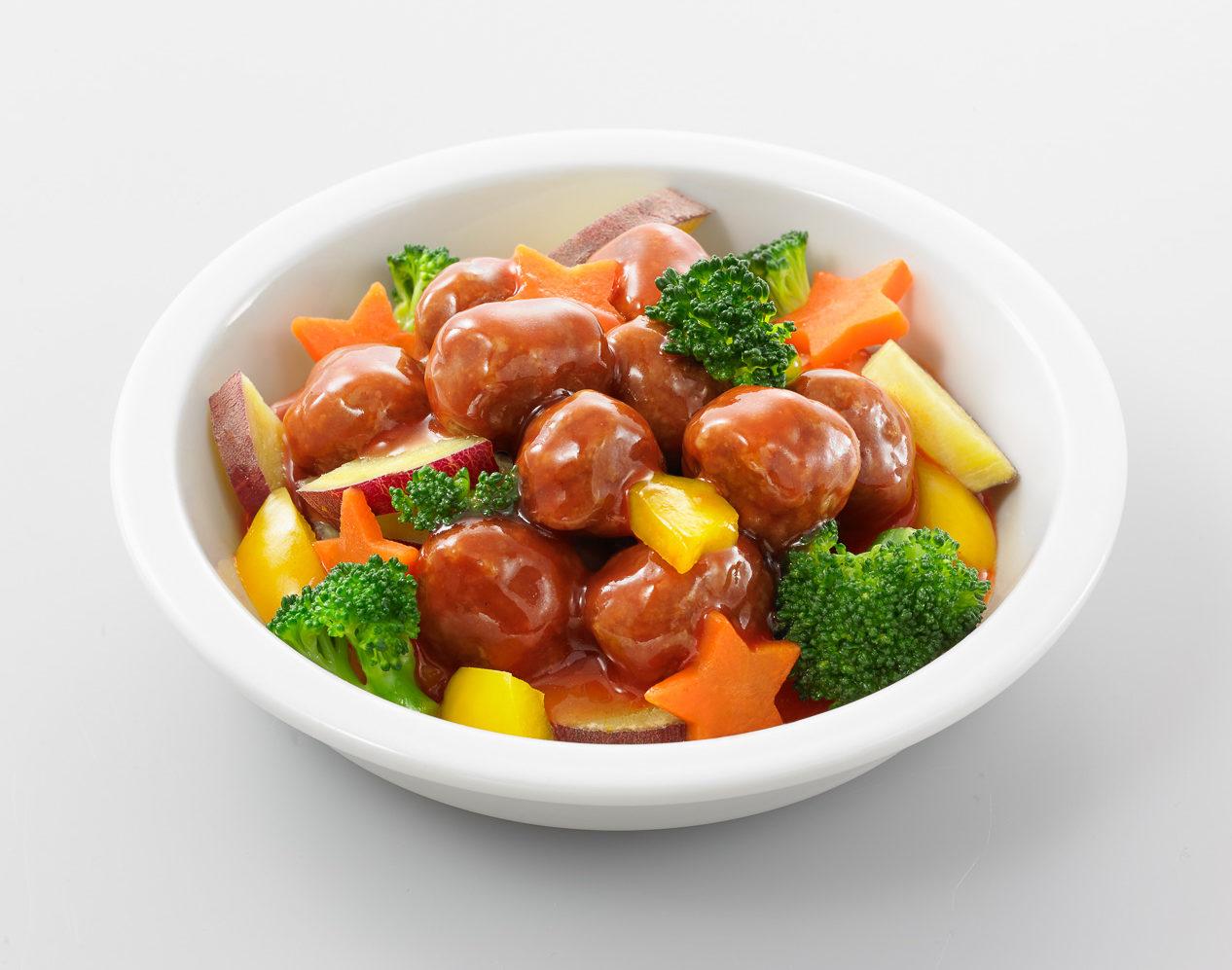 ミートボール入り温野菜