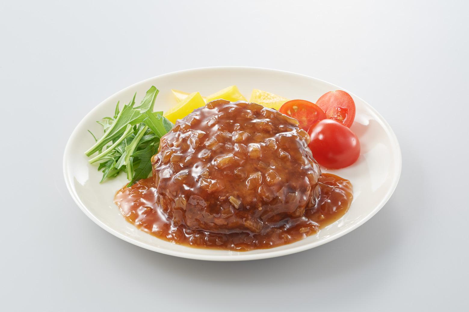 愛知県大府市産 知多3号玉ねぎ使用ハンバーグ たまり醤油のオニオンソース