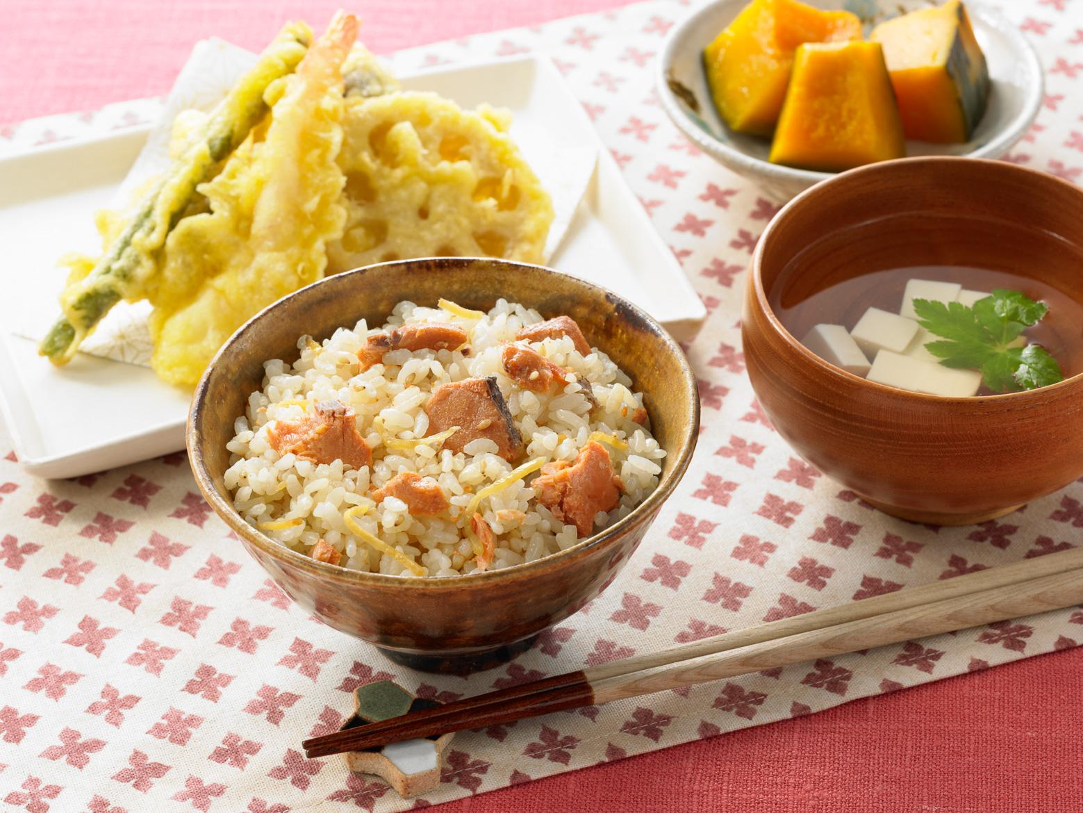 サクラマスのまぜごはんの素 生姜醤油味 食卓イメージ