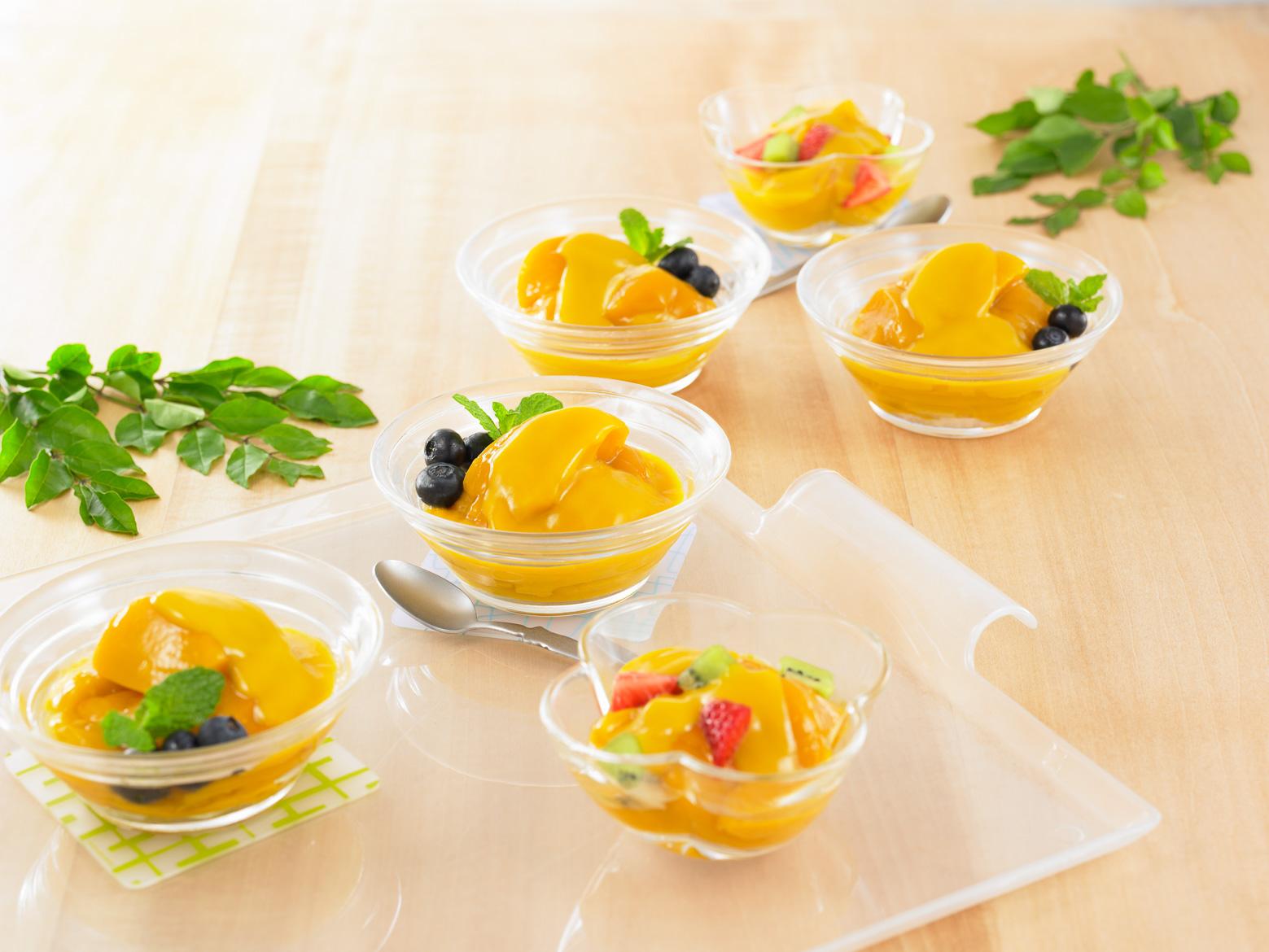 マンゴープリン 食卓イメージ