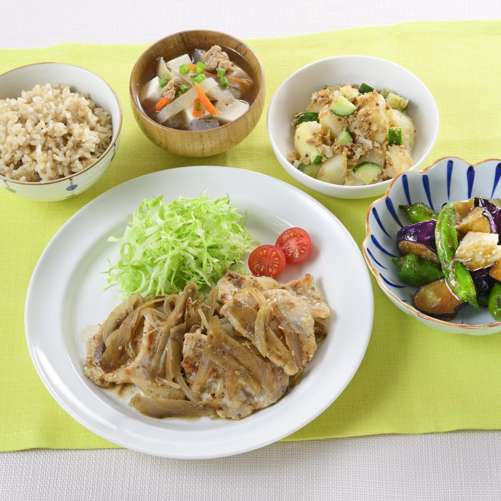 初夏のさっぱり生姜焼き定食