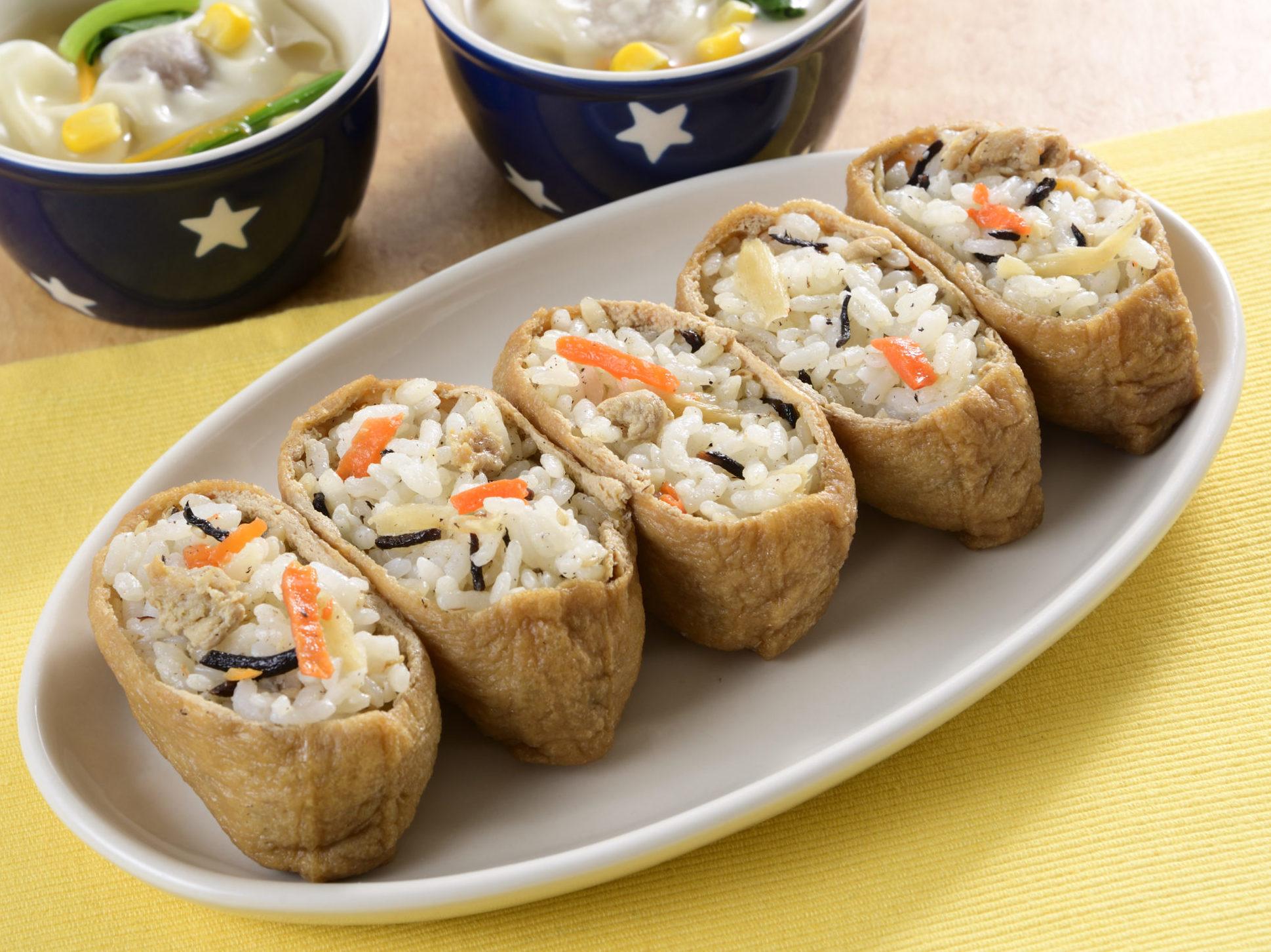 かしわ飯のオープンいなり寿司