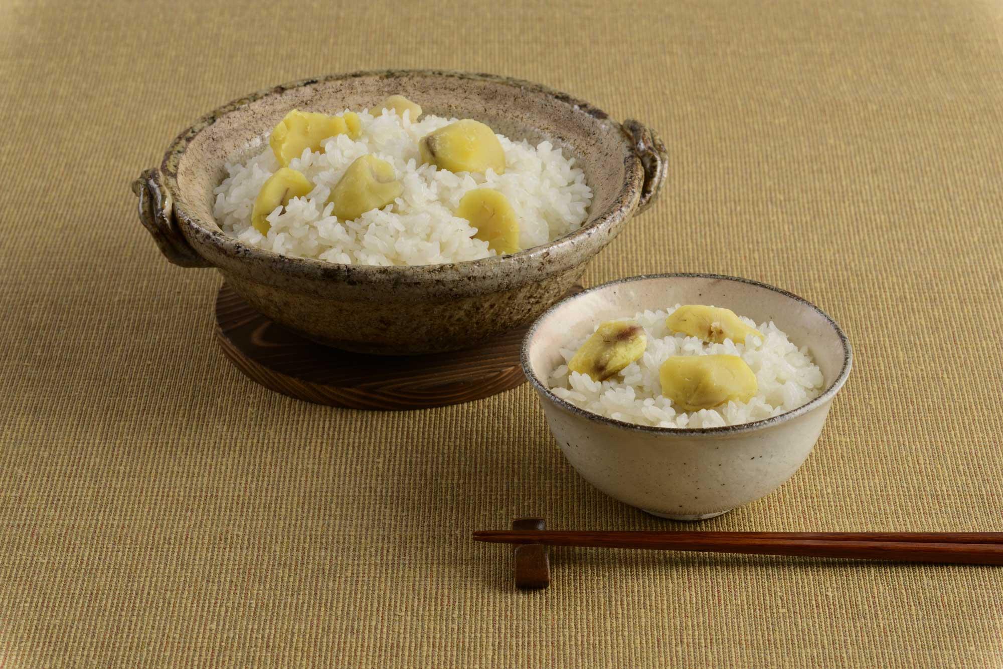 「栗ごはんの素」を使った栗ごはんのおいしい炊き方:関西風