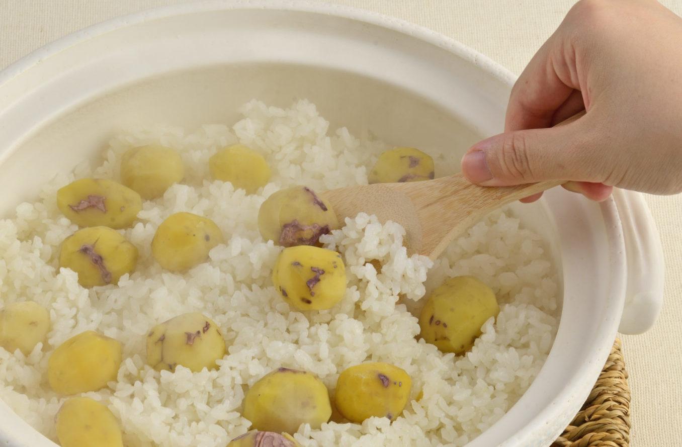 「栗ごはんの素」を使った栗ごはんのおいしい炊き方:関東風