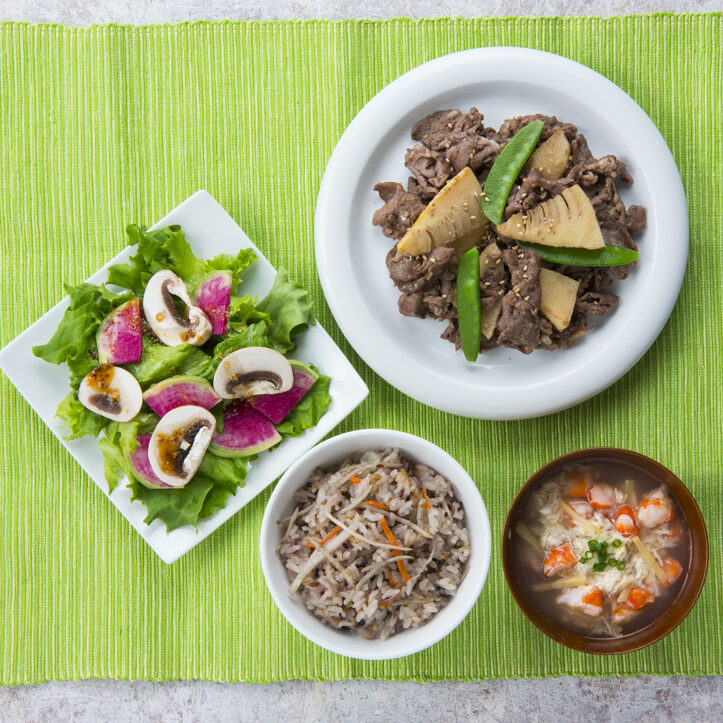 食物繊維やたんぱく質が豊富な食材を取り入れた和献立